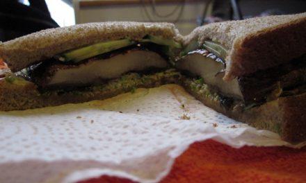 8 Minute Portobello Mushroom Sandwich