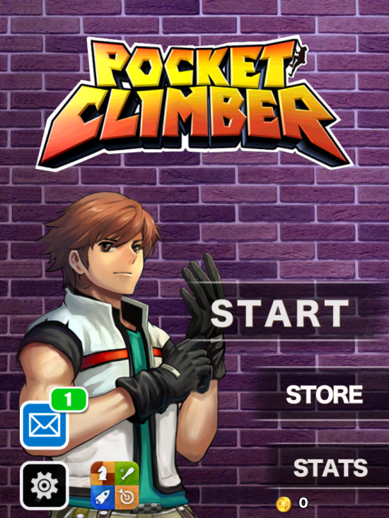 Pocket Climber Main Screen