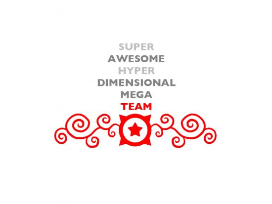 Super Awesome Hyper Dimensional Mega Team Logo