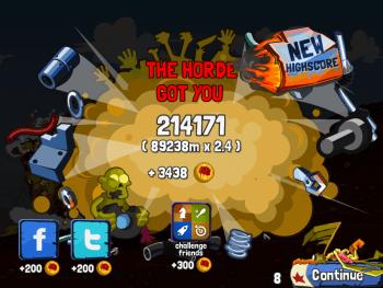 Zombie Road Trip high score