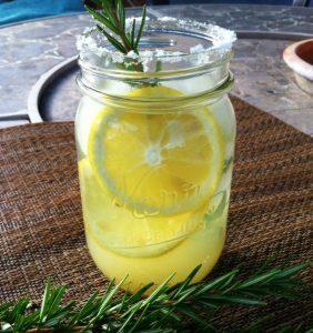 rosemary lemonade summer cocktail