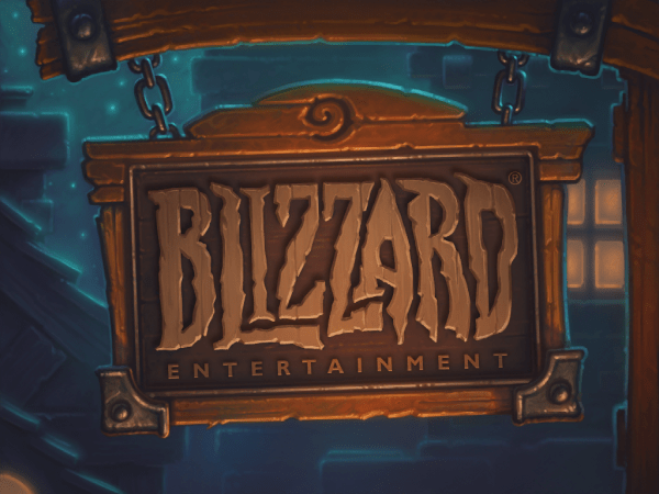 Hearthstone Blizzard Logo sign