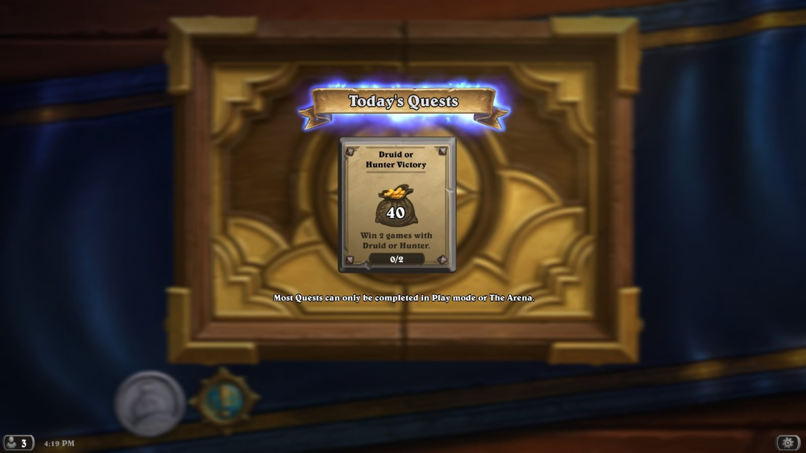 Hearthstone Daily Quest