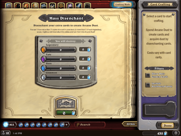 Never any wasted money or cards in Hearthstone.