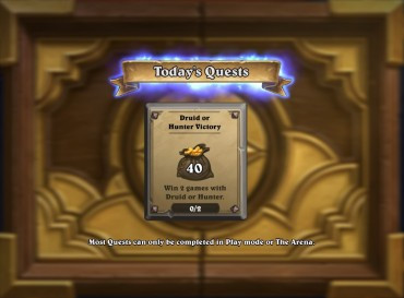 Hearthstone Daily Quests