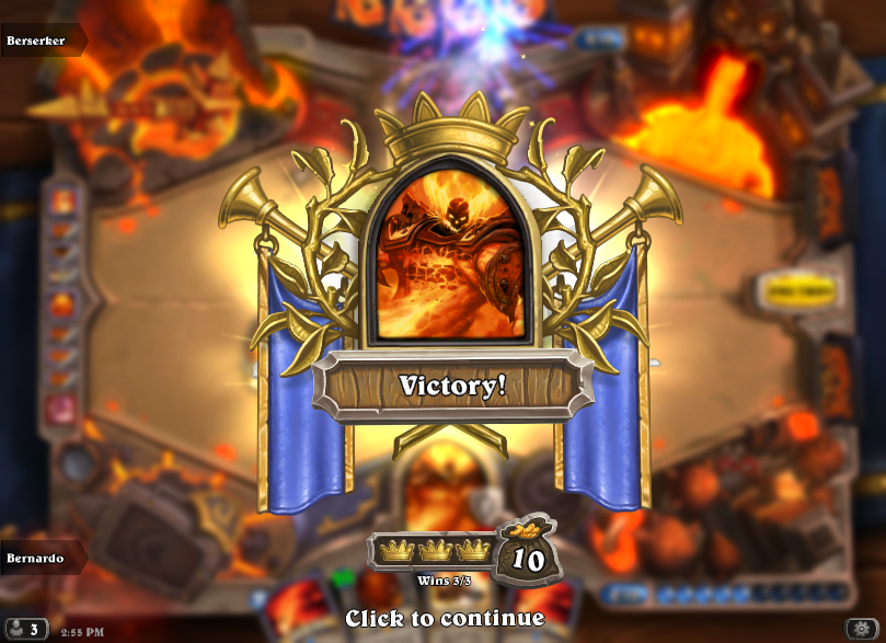 Ragnaros wins Hearthstone