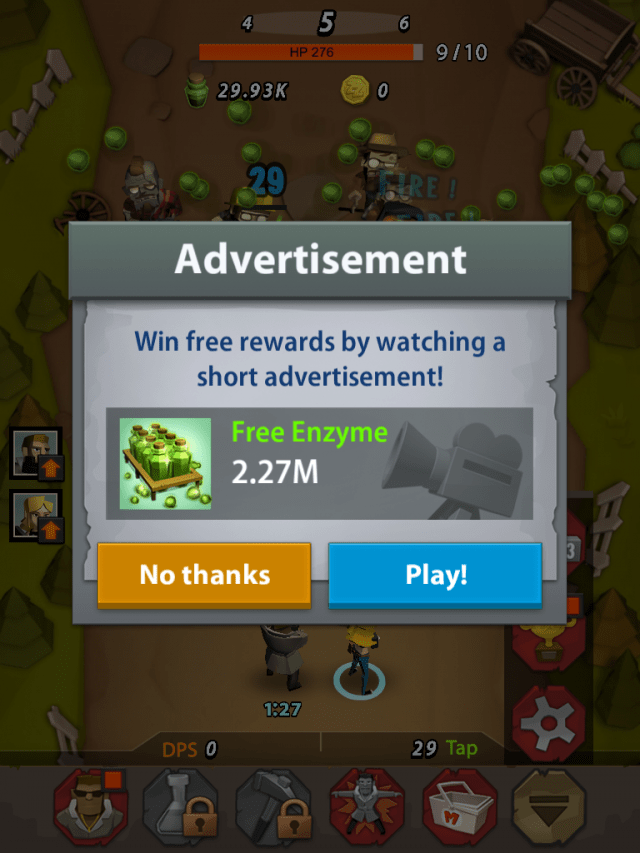 """Grind like crazy or watch the ads and be """"rewarded"""""""