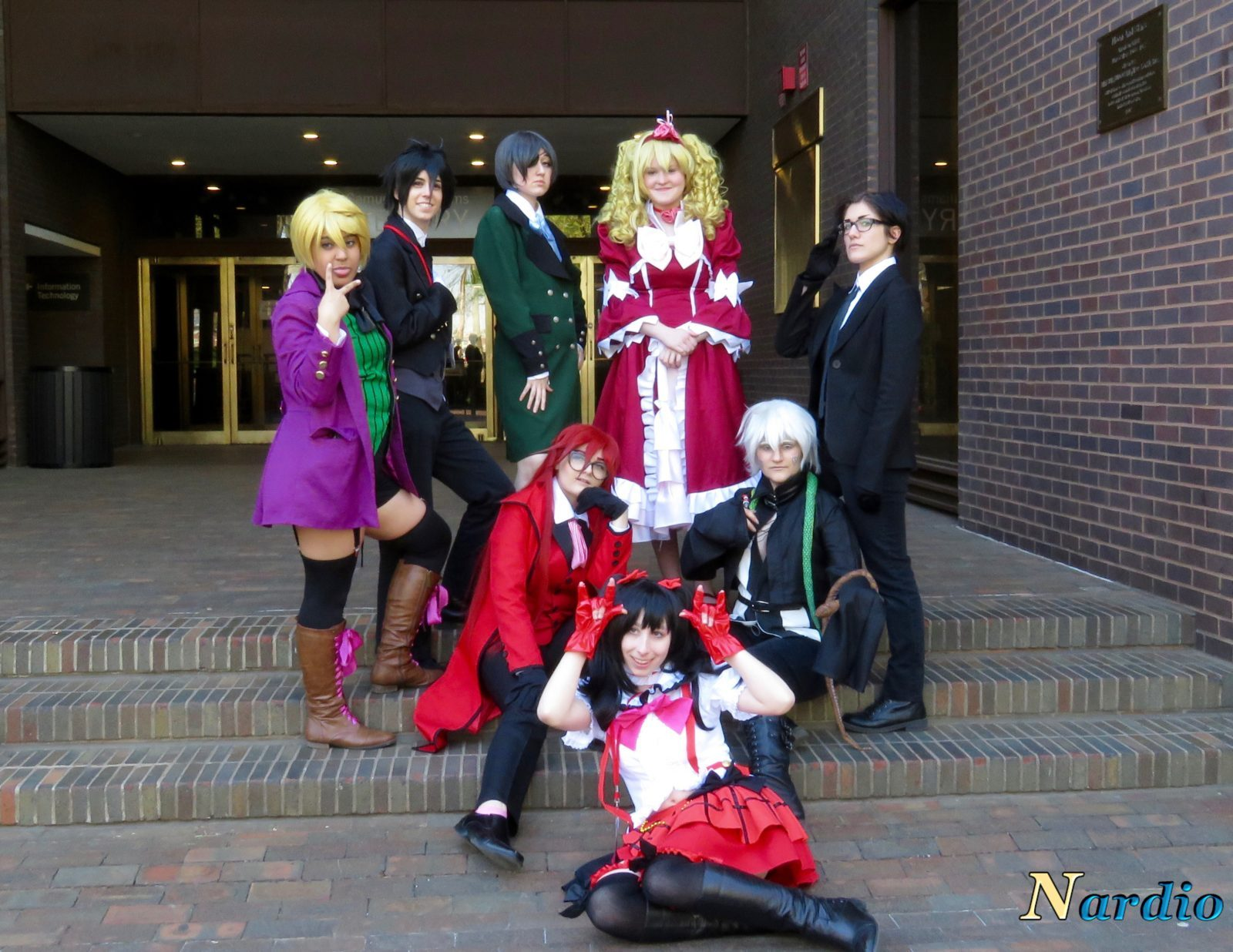 Castle Point Anime Convention Black Butler group 004 When friends joined in