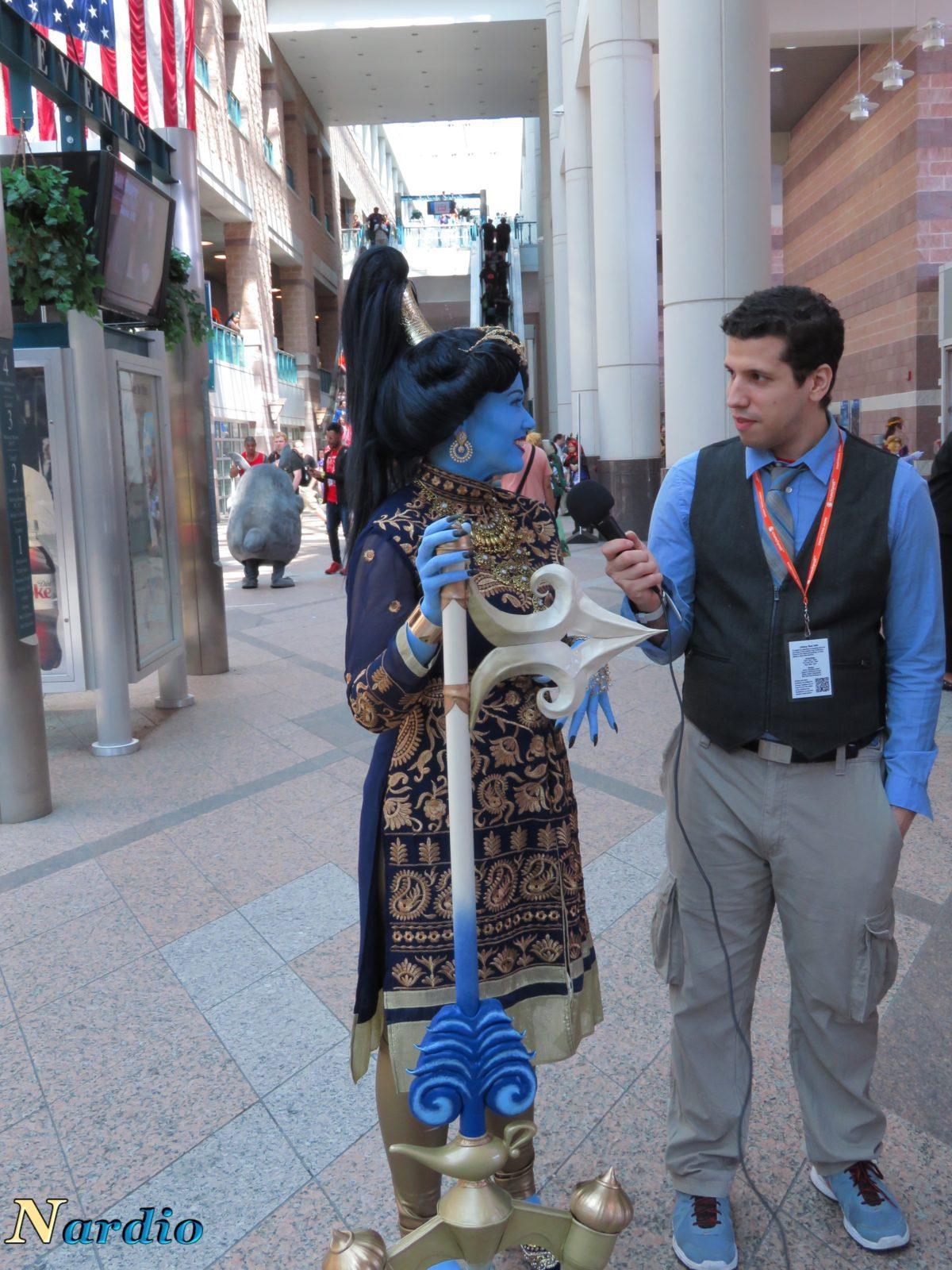 Aladdin and Genie AnimeNext Cosplay With Bernardo 2