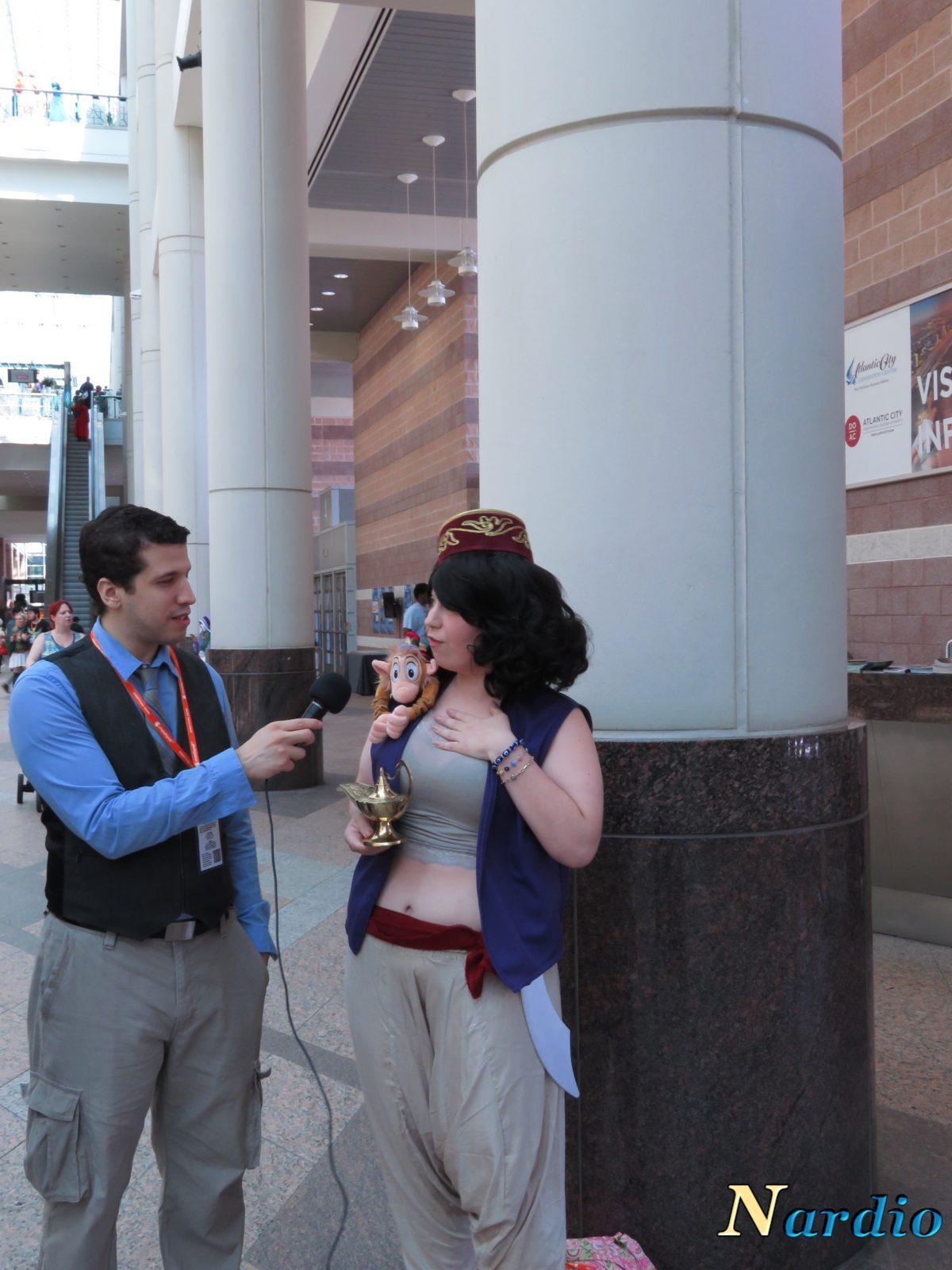 Aladdin and Genie AnimeNext Cosplay With Bernardo 3
