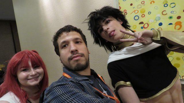 Bernardo Espanol with Cosplayers at Liberty City Anime Con