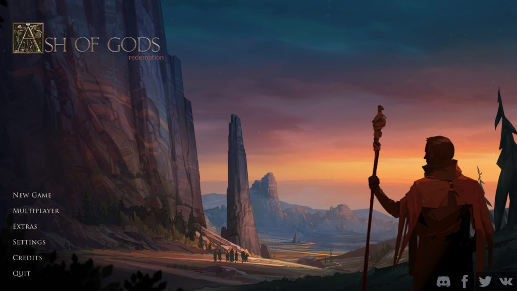 Ashes of God: Redemption Title Screen